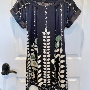 Ted Baker London | Navy Silk Mini Shift Dress (1)